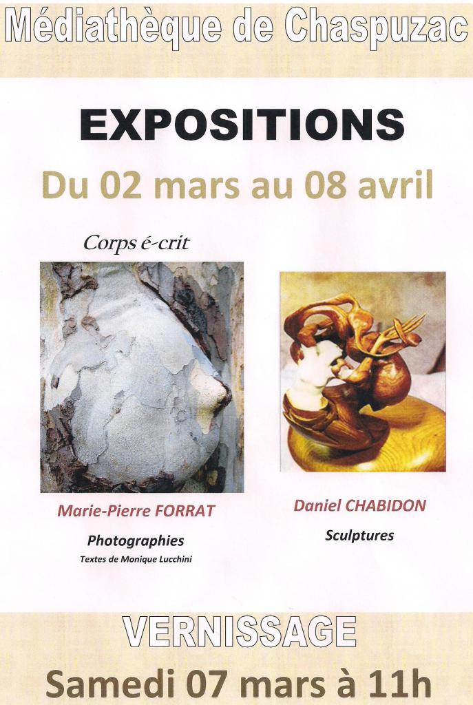 affiche exposition photos et sculptures